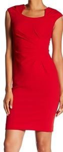 CALVIN KLEIN Ruched Lined Dress Red Size 18W Plus